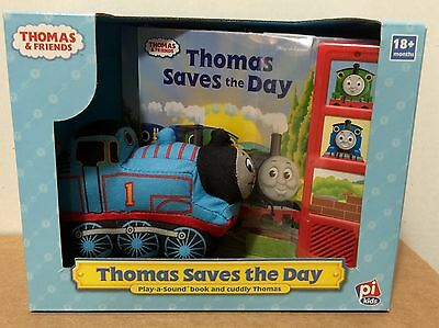 Thomas and Friends Thomas Saves the Day, Play a Sound Book + Cuddly Thomas, New