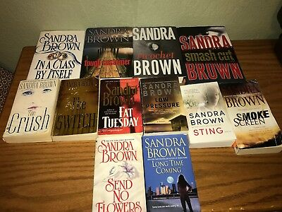 Sandra Brown book lot of 14 all different, 4 hardcover, 10 paperback books