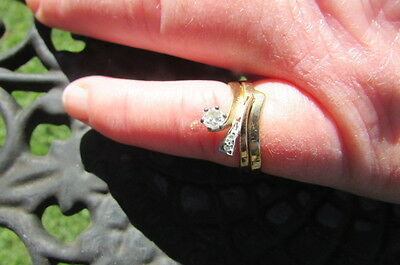 Diamond & Yellow Gold Engagement & Wedding Ring Set