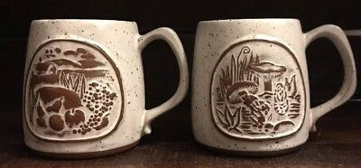 Goss Crafted In Vermont Coffee Mug Set Of Mushroom And Farm Theme Mug Speckled