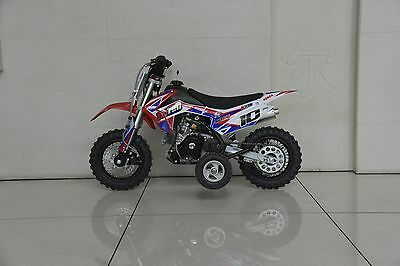 Kids 50cc dirtbike 4 stroke auto with training wheels  new smaller size