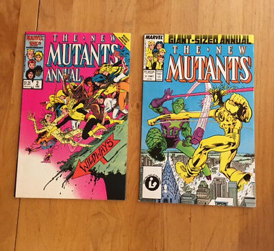 The New Mutants Annual #2-3 First U.S. appearance Psylocke (1986–1987 Marvel) VF
