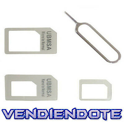 Adaptador tarjeta Nano SIM Card A Micro Para iPhone 4 5 micro sim Nanosim Normal