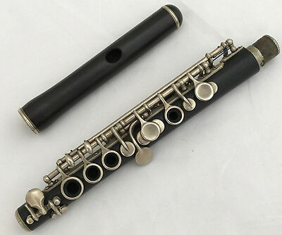 Antique French Wooden Boehm System Piccolo in Db - Thibouville