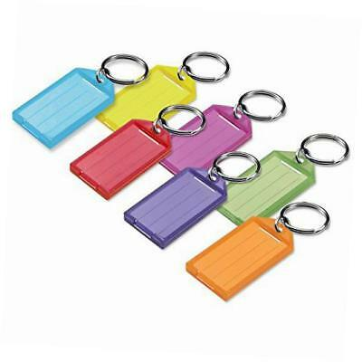 key tag with split ring; assorted colors, 25 pack (6050025)