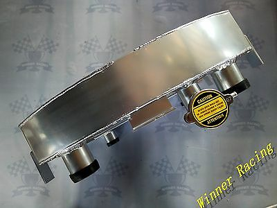 Fit Ford Lowboy Chopped W/Flathead V8 Engine 1932-1939 Aluminum Radiator 70mm