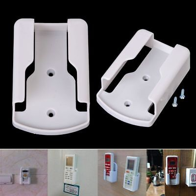 Universal White Air Conditioner Remote Control Holder Wall Mounted Box Storage
