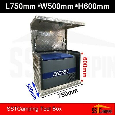 Aluminium Generator Tool box 750 500 600 2.5mm Checker Plate Truck TOOLBOX UTE