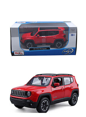 Maisto 1/24 Scale Jeep Renegade Red Diecast SUV Vehicles Sports Car Kids Toy