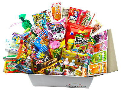 JAPANESE CANDY SETS 10-105 Piece Box Christmas Snacks Sweets Dagashi Assortment