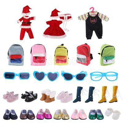 Doll Clothing & Accessories Clothes Shoes Bag Glasses for 18inch American Girl