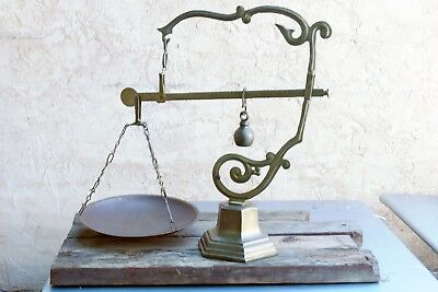 Antique Functional Brass Balance Scale