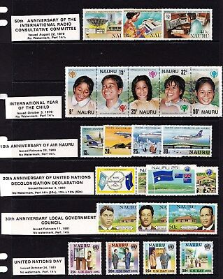 Nauru 1979 - 1987   29 Sets MNH - 6 Scans
