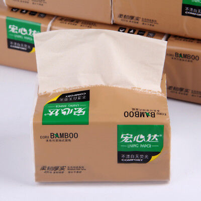 18 x Bags Bamboo Tissue 420 PCs Per Bag Bamboo Fiber Fabric Napkin Towel Healthy