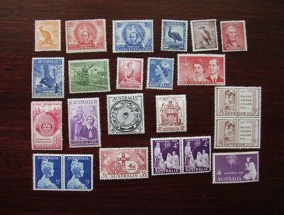 Australia group of pre-decimal mint hinged stamps