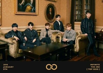 INFINITE TOP SEED 3rd Album CD+POSTER+Photo Book+S.Card+PostCard SET+Card SEALED