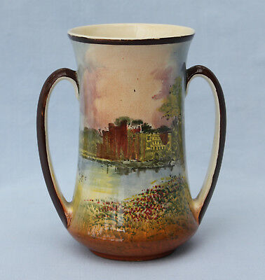 Royal Doulton Shakespeare's Country Twin-Handled Vase - Guys Cliff House - D449