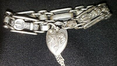 Continental silver bracelet for child or lady with a dainty  wrist.