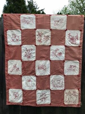 Antique Embroidered Quilt