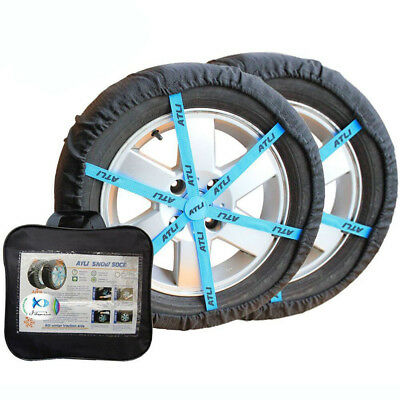 Auto Snow Sock Adjustable Car Tire Snow Chains KB78 Traction Car Wheel Covers