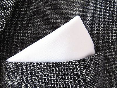 Pocket Square/handkerchief White Cotton Fabric.unisex.wedding Accessory.mod