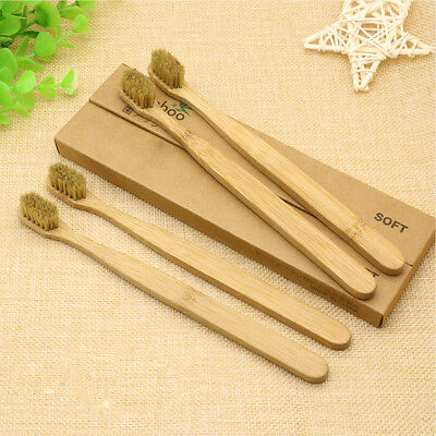 5x Perfect Soft Adult Eco Friendly Bamboo Toothbrush For Health Family Oral Care
