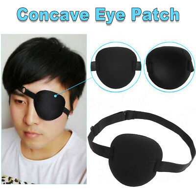 Medical Use Concave Eye Patch Foam Groove Washable Eyeshades Strap Kids/Adult