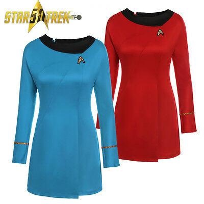 Star Trek Female Duty Classical Uniform Cosplay Halloween Long Sleeves Costume