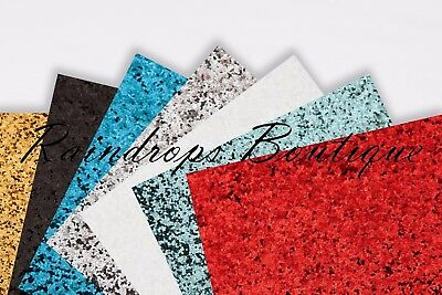 Chunky Glitter Fabric panels 24cm x 30cm sheets larger than A4 very sparkly