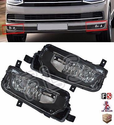 Vw Transporter T6 Led Drl Fog Lights Lamps Pair Oem Style With Bulbs