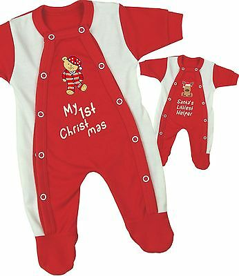 BabyPrem CHRISTMAS Baby Clothes Red Premature Prem Tiny Sleepsuit Babygrow