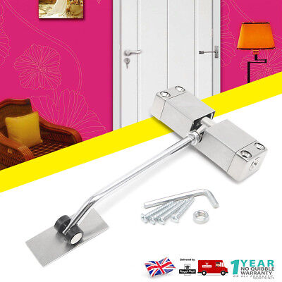 Surface Mounted Door Gate Closer Auto Adjustable Spring Closing 180 degrees UK