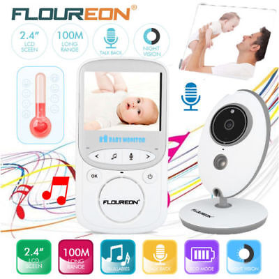 Wireless Baby Monitor Video Security Camera Temperature 2 Way Talk Night Vision