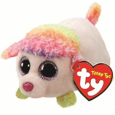 Floral Poodle - Teeny Ty - 6cm Mini TY Plush Teddy - Brand New Soft Toys