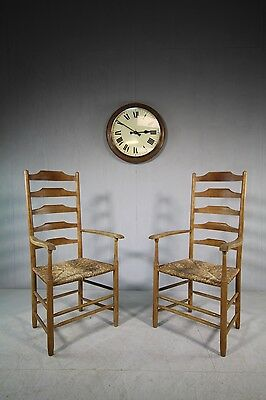 Large Pair of Neville Neal Laddder Back Armchairs