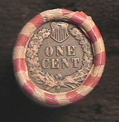 HALF ROLL 25 CENTS  MIX-INDIAN HEAD & WHEAT CENT ROLL -1859 to 1958 MIXED