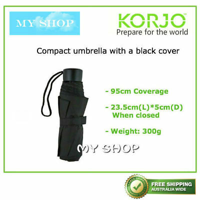 One of Korjo Pocket Lightweight & Compact Folding Umbrella --Black