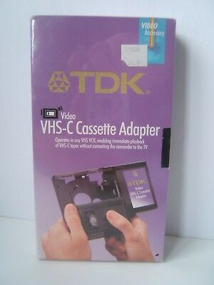 TDK VHS-C to VHS Cassette Adapter New Old Stock Sealed