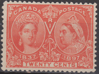 Canada 1897 Jubilee Mint Mounted  20c Vermilion Cat £140
