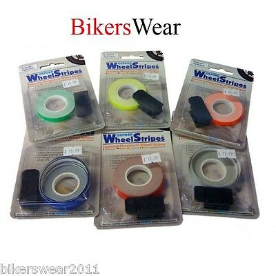 Oxford Wheel Stripes - With 3M Applicator White Reflective Motorcycle