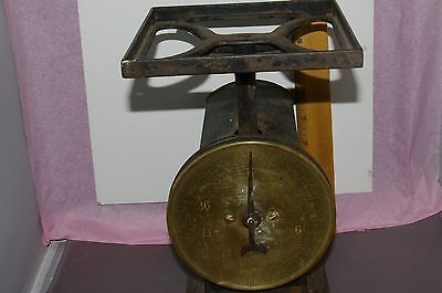 Antique Farm Household Scale W/brass Front