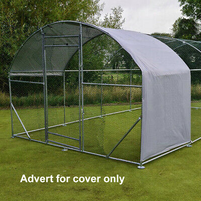 Cover For Chicken Run Walk In Coop Poultry Dog Rabbit Hen Cage Pen Metal New