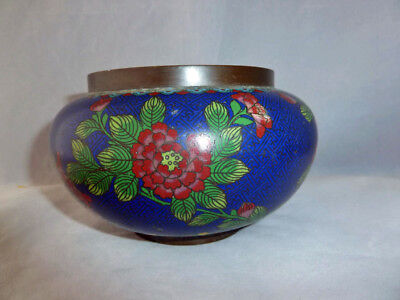 Fine Chinese 18th / 19th Century Cloisonne Censer - Signed .