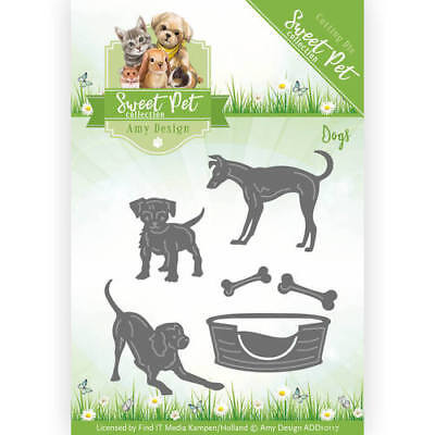 Amy Design Sweet Pet - Dogs,ADD10117 Stanzschablone,Hunde