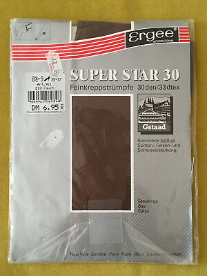 80er Nylons Strümpfe Ergee Superstar 30 Den Vintage 80s Stockings Gr.1