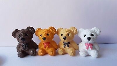 TEDDY BEAR cute small 1:12th scale dolls house toys nursery miniature toyshop