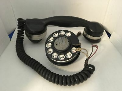 Vintage Bell System Handset - Spiral  Cord & Rotary Dial - Possibly Lineman Use