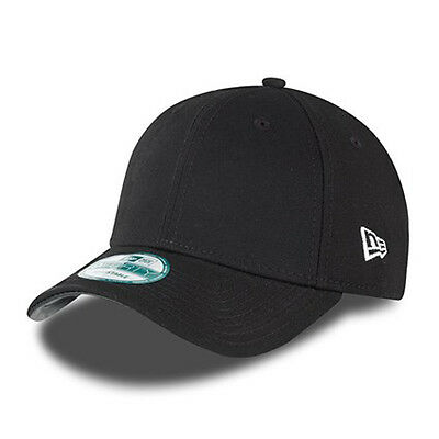 New Era Mens 9Forty Baseball Cap.genuine Basic Black Curved Peak Adjustable Hat