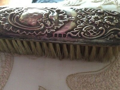 Antique Silver Hairbrush, Hand mirror Vanity Set