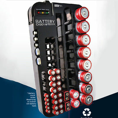 72 Battery test Storage Organizer Holder Battery Capacity Tester AAA/AA/C/D 9V